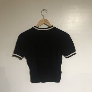 e30a3b9f4c0 Forever 21 Sweaters - Forever 21 Black and White Sweater Crop Top